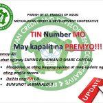 TIN NUMBER MO MAY KAPALIT NA PREMYO!!!